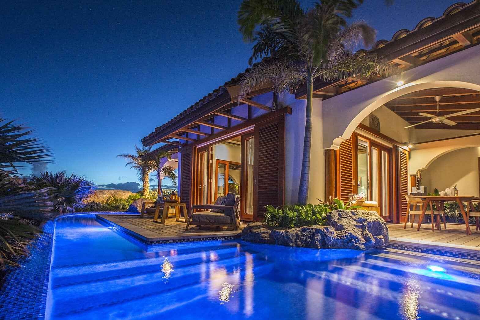 Superior-Beach-Front-Pool-Suite-Pool-by-Night