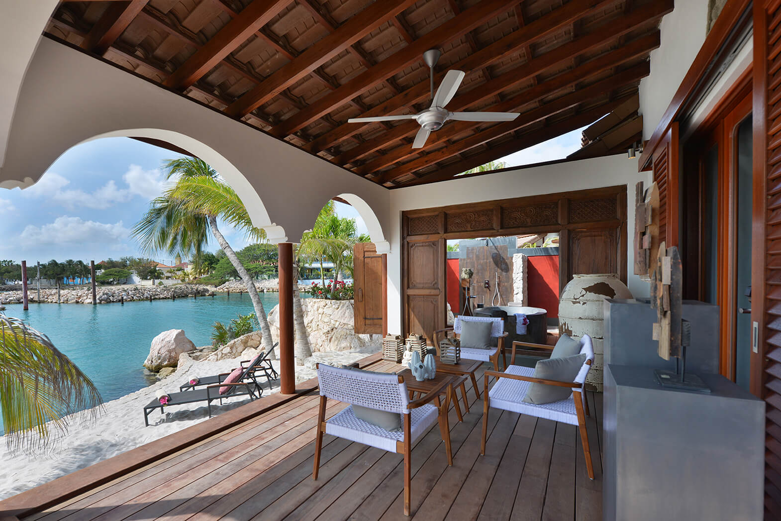Superior-Beachfront-Patio-with-View-of-Private-Beach