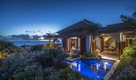 Superior Beach Front Pool Suite by Night